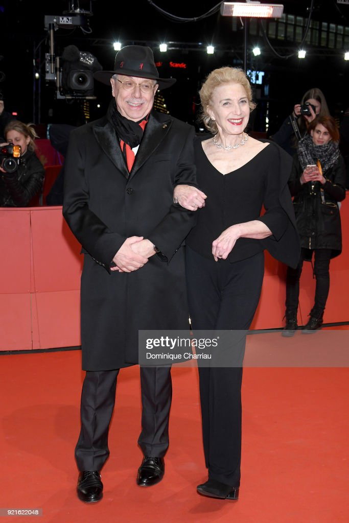 Festival director Dieter Kosslick and Marisa Paredes attend the Hommage Willem Dafoe - Honorary Golden Bear award ceremony and 'The Hunter' screening during the 68th Berlinale International Film Festival Berlin at Berlinale Palast on February 20, 2018 in Berlin, Germany.