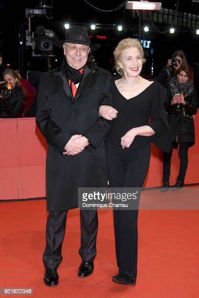 Festival director Dieter Kosslick and Marisa Paredes attend the Hommage Willem Dafoe Honorary Golden Bear award ceremony and 'The Hunter' screening...