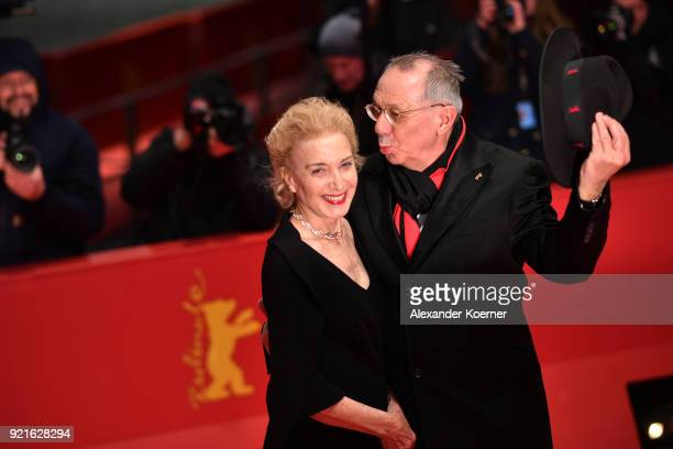 Festival director Dieter Kosslick and Marisa Paredes attend the Homage Willem Dafoe Honorary Golden Bear award ceremony and 'The Hunter' screening...