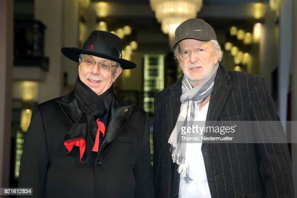 Festival director Dieter Kosslick and Michael Gwisdek attend the 'The Silent Revolution' premiere during the 68th Berlinale International Film...