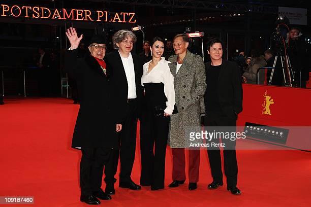 Festival director Dieter Kosslick, German director Wolfgang Murnberger, Austrian actress Ursula Strauss, Austrian actor Georg Friedrich and German...