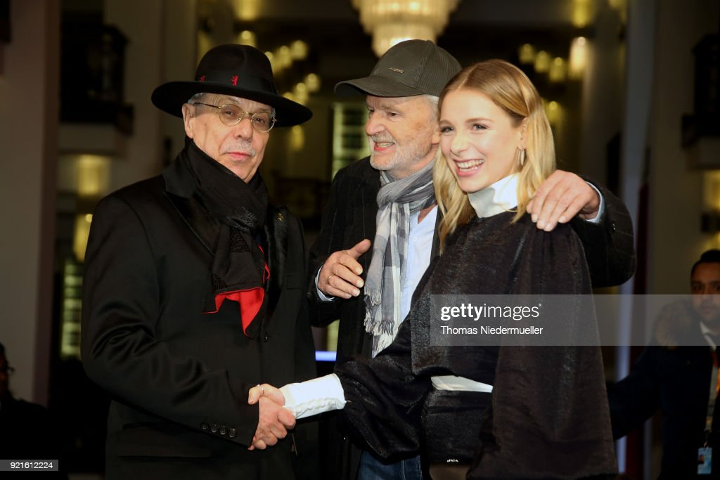 Festival director Dieter Kosslick, Michael Gwisdek and Lena Klenke attend the 'The Silent Revolution' (Das schweigende Klassenzimmer) premiere during the 68th Berlinale International Film Festival Berlin at Friedrichstadtpalast on February 20, 2018 in Berlin, Germany.