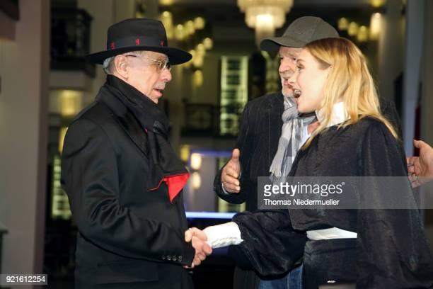 Festival director Dieter Kosslick Michael Gwisdek and Lena Klenke attend the 'The Silent Revolution' premiere during the 68th Berlinale International...