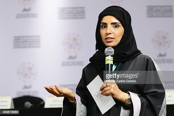 Festival Director Fatma Al Remaihi attends the Speed Sisters Press Conference during Day 2 of the Ajyal Youth Film Festival 2014 on December 2 2014...
