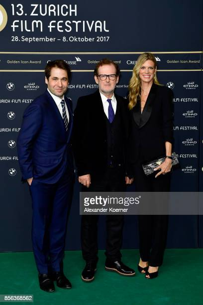 Festival director Karl Spoerri Bjoern Runge and Festival director Nadja Schildknecht attend the 'The Wife' premiere at the 13th Zurich Film Festival...