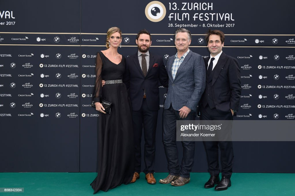 Festival director Nadja Schildknecht, director Jared Moshe, actor Bill Pullman and Festival director Karl Spoerri attend the 'The Ballad of Lefty Brown' premiere at the 13th Zurich Film Festival on October 6, 2017 in Zurich, Switzerland. The Zurich Film Festival 2017 will take place from September 28 until October 8.
