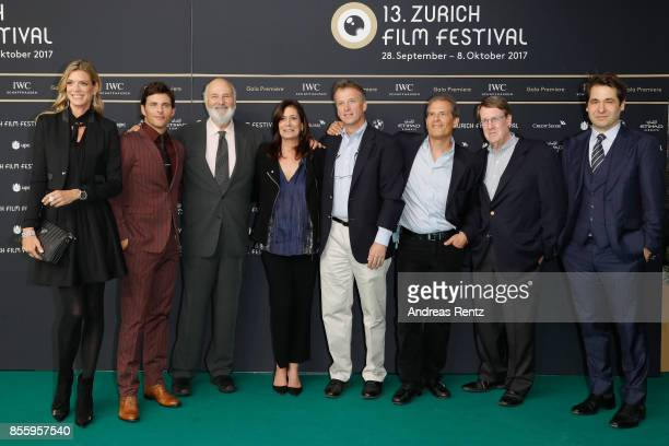 Festival Director Nadja Schildknecht James Marsden Rob Reiner Michele Reiner journalists Jonathan Landay John Walcott Warren Strobel and Festival...