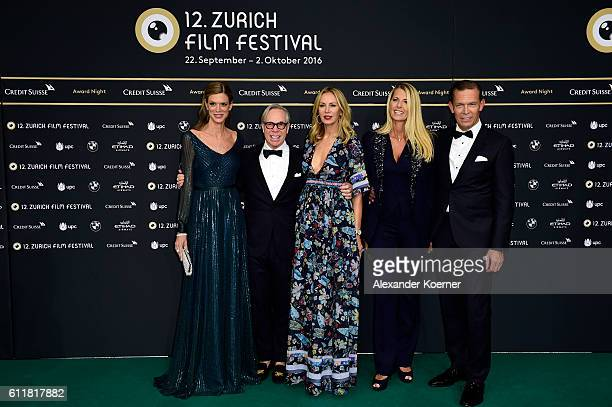 Festival director Nadja Schildknecht Tommy Hilfiger and Dee Hilfiger CEO Tommy Hilfiger and PVH Daniel Grieder and his wife Sandra attend the Award...