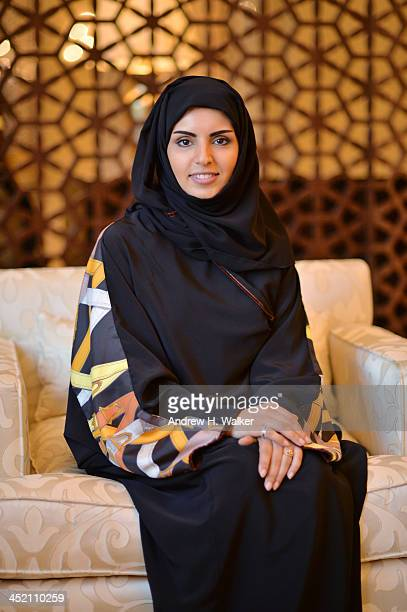Festival Director of the Ajyal Youth Film Festival Fatma Al Remaihi poses during Day 1 of the Ajyal Youth Film Festival on November 26 2013 in Doha...