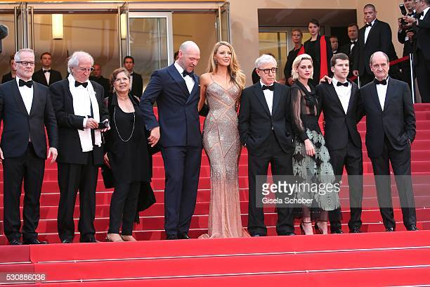 Festival Director Thierry Fremaux, Director of photography Vittorio Storaro, guest, actors Corey Stoll, Blake Lively, Director Woody Allen, actors...