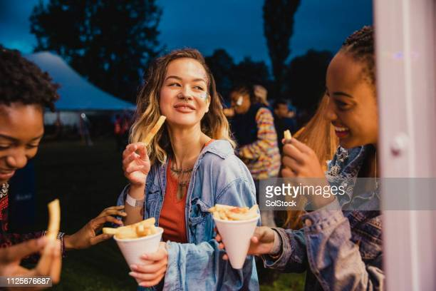 festival food is the best food - french fries stock pictures, royalty-free photos & images