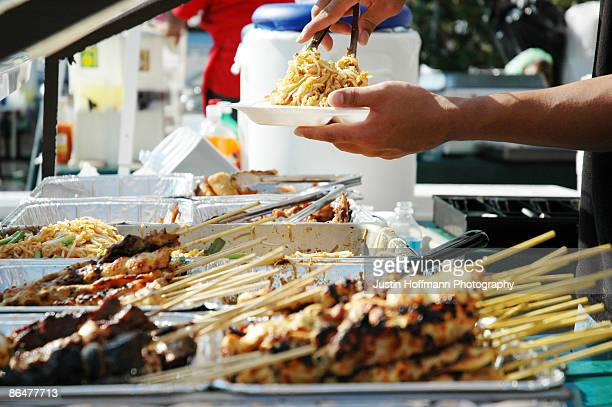 festival food - street fair stock photos and pictures