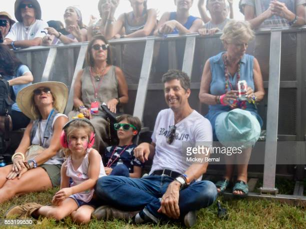 Festival founder Kevin Griffin and family attend Pilgrimage Music Cultural Festival on September 24 2017 in Franklin Tennessee