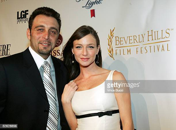 Festival founder Nino Simone and actress Katharine Towne attend the afterparty for the 5th Annual International Beverly Hills Film Festival opening...