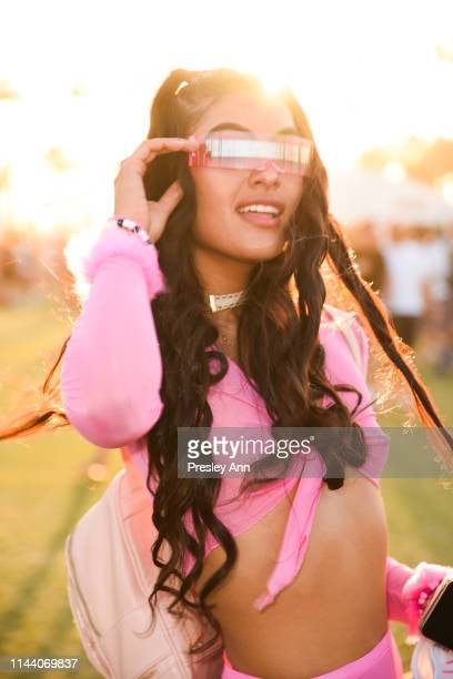 Festival goer attends 2019 Coachella Valley Music And Arts Festival Weekend 2 on April 20 2019 in Indio California