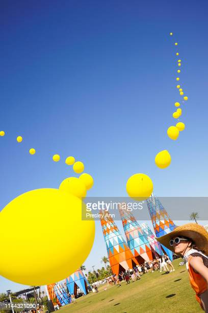 Festival goer attends 2019 Coachella Valley Music And Arts Festival Weekend 2 on April 21 2019 in Indio California