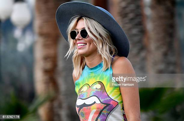 Festival goer attends Desert Trip at the Empire Polo Field on October 7, 2016 in Indio, California.