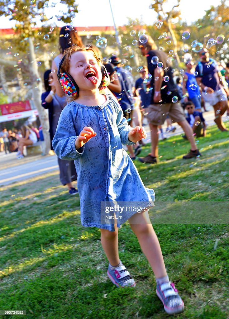 A festival goer attends FYF Fest 2016 at Los Angeles Sports Arena on August 27, 2016 in Los Angeles, California.