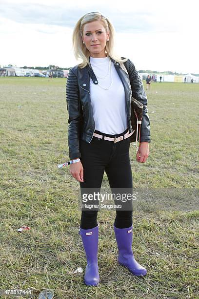 Festival goer during the third day of the Bravalla Festival on June 27, 2015 in Norrkoping, Sweden.