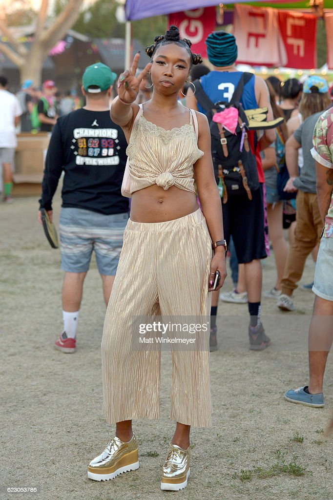 A festival goer is seen during day two of Tyler, the Creator's 5th Annual Camp Flog Gnaw Carnival at Exposition Park on November 13, 2016 in Los Angeles, California.