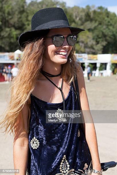 Festival Goer poses during Splendour in the Grass 2016 on July 22 2016 in Byron Bay Australia