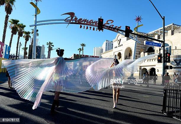 Festival goers are seen during day 3 of the 2016 Life Is Beautiful festival on September 25 2016 in Las Vegas Nevada