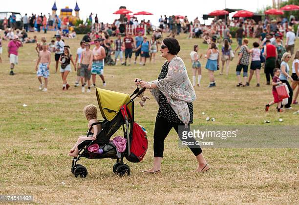 Festival goers at the Wickerman festival on July 27 2013 in Dundrennan Scotland