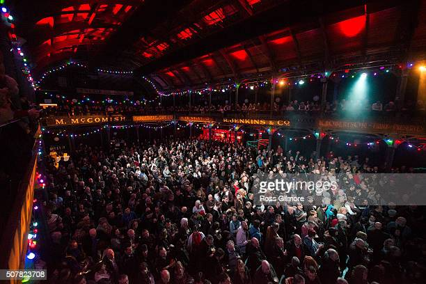 Festival goers attend A Concert for Bert Jansch at the Celtic Connections Festival at The Old Fruit Market on January 31 2016 in Glasgow Scotland