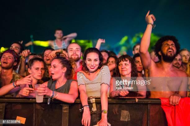 Festival goers attend day 3 of Festival Internacional de Benicassim on July 15 2017 in Benicassim Spain
