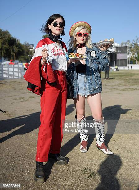 Festival goers attend FYF Fest 2016 at Los Angeles Sports Arena on August 28 2016 in Los Angeles California
