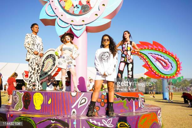 Festival goers attend the 2019 Coachella Valley Music And Arts Festival Weekend 2 on April 21 2019 in Indio California