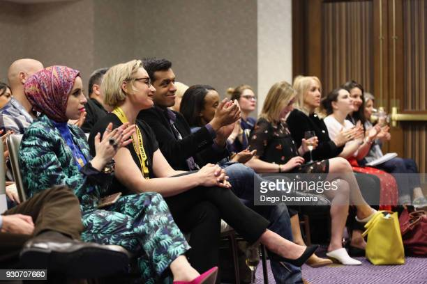 Festival goers attend the Featured Speaker Connect with Katie Couric during SXSW at Fairmont Austin on March 11 2018 in Austin Texas