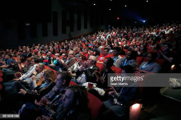 Festival goers attend the premiere of 'First Reformed' during SXSW at Elysium on March 13 2018 in Austin Texas