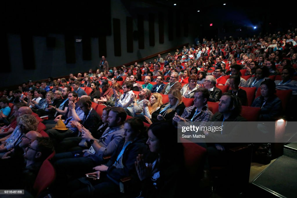 Festival goers attend the premiere of 'First Reformed' during SXSW at Elysium on March 13, 2018 in Austin, Texas.