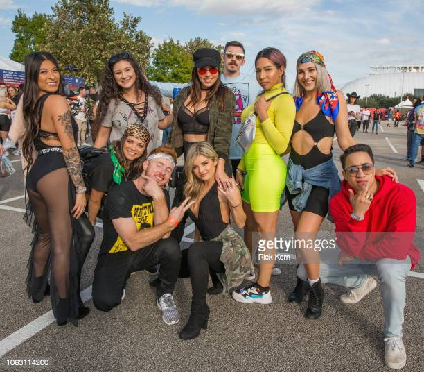 Festival goers attend Travis Scott's inaugural Astroworld Festival at NRG Park on November 17 2018 in Houston Texas