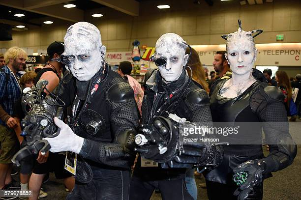 Festival goers in cosplay attend ComicCon International 2016 at San Diego Convention Center on July 24 2016 in San Diego California