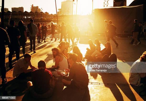 Festival Goers In The Sun