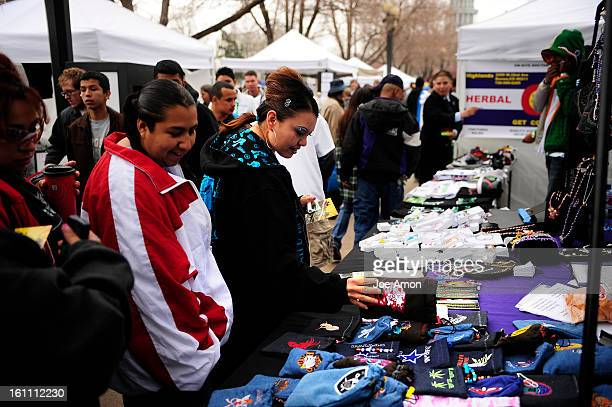 Festival goers looking over the wares on the midway at the Annual Denver 420 Rally in Civic Center Park Joe Amon The Denver Post pot rally