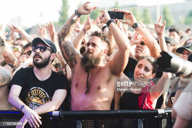 Festival goers on day 3 of Download Festival 2019 at La Caja Magica on June 30 2019 in Madrid Spain