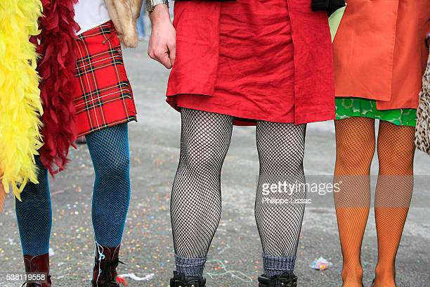 festival goers wearing fishnet stockings - fishnet stockings stock pictures, royalty-free photos & images