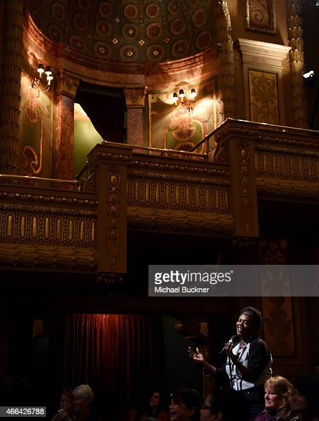 Festival goes participate in the QA after the premiere of Mavis during the 2015 SXSW Music FIlm Interactive Festival at the Paramount Theatre on...