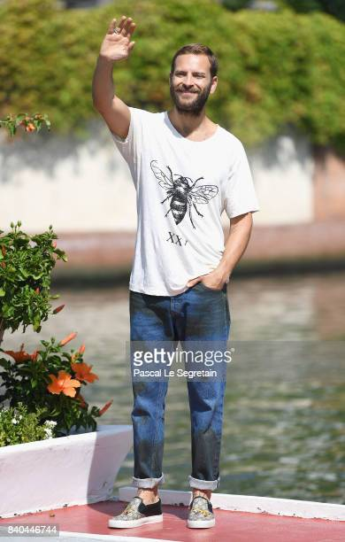 Festival host Alessandro Borghi arrives at the 74th Venice Film Festival at on August 29 2017 in Venice Italy