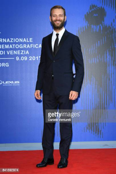 Festival host Alessandro Borghi attends the Franca Sozzani Award during the 74th Venice Film Festival on September 1 2017 in Venice Italy