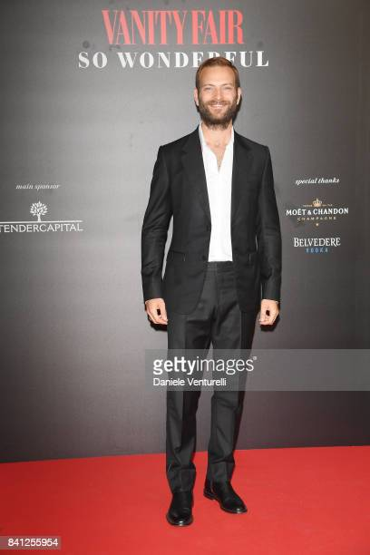 Festival host Alessandro Borghi attends Vanity Fair 'So Wonderful' Party during the 74th Venice Film Festival at Cipriani Hotel on August 31 2017 in...