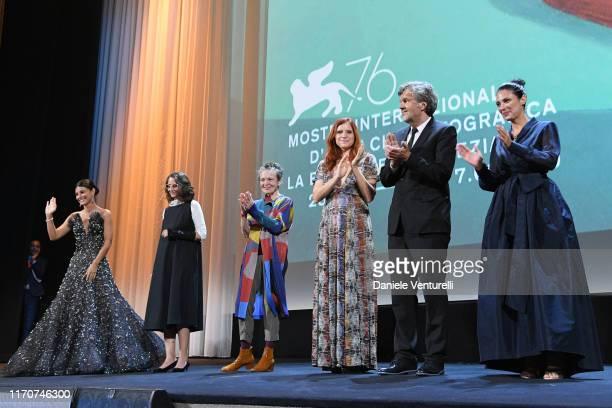 Festival hostess Alessandra Mastronardi, Jury President Main competition Lucrecia Martel, Jury President Venice Virtual Reality Laurie Anderson, Jury...
