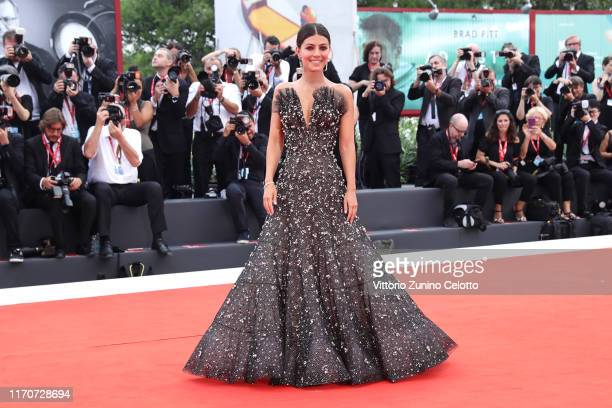 Festival hostess Alessandra Mastronardi walks the red carpet ahead of the Opening Ceremony and the La Vérité screening during the 76th Venice Film...