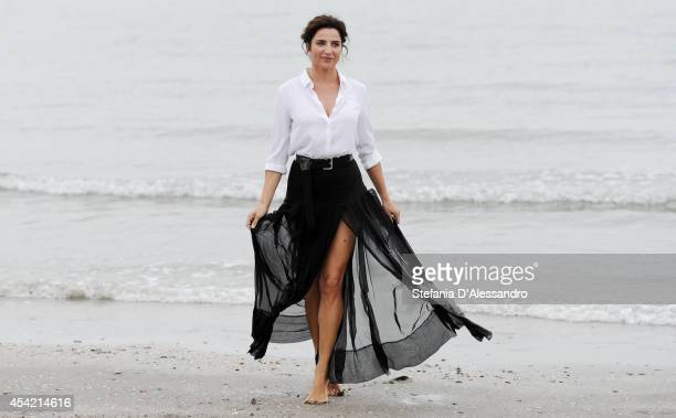 Festival hostess and actress Luisa Ranieri poses at a photocall during 71st Venice Film Festivalon August 26 2014 in Venice Italy on August 26 2014...