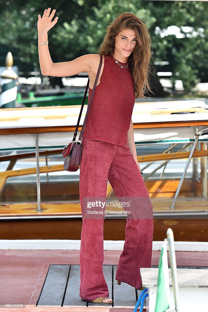 Elisa Sednaoui Arrives At Lido - 72nd Venice Film Festival