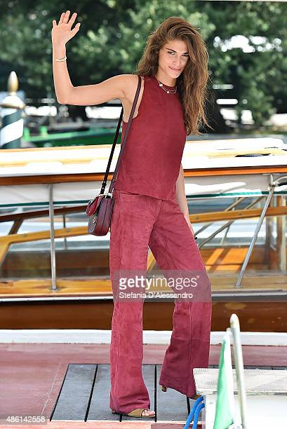 Festival hostess Elisa Sednaoui arrives at Lido during the 72nd Venice Film Festival on September 1 2015 in Venice Italy