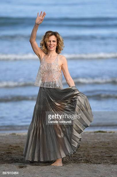 Festival hostess Sonia Bergamasco attends photocall during the 73rd Venice Film Festival on August 30 2016 in Venice Italy
